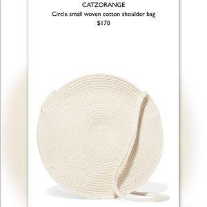 catzorange Bags - Catzorange small circle woven cotton bag